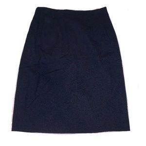 ⚜️Saks 5th Avenue Wool Navy Skirt - Vintage